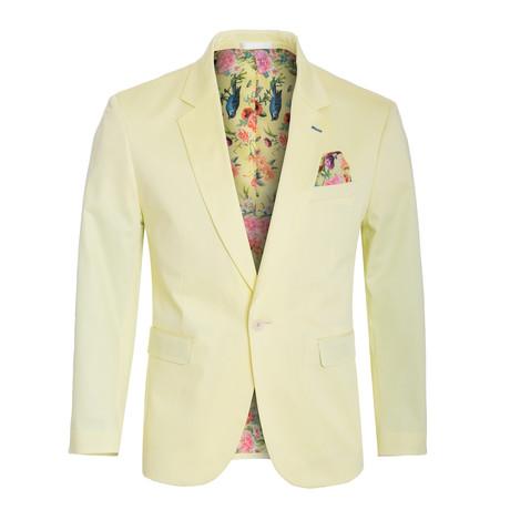 Cotton Stretch Fashion Blazer // Lemon (S)