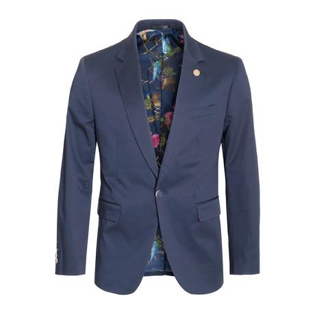 Cotton Stretch Fashion Blazer // Navy (S)