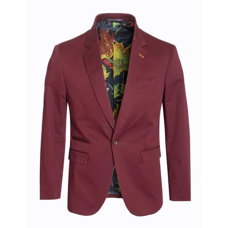 Cotton Stretch Fashion Blazer // Burgundy (S)