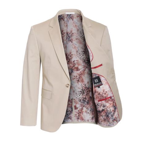 Cotton Stretch Fashion Blazer // Khaki (S)