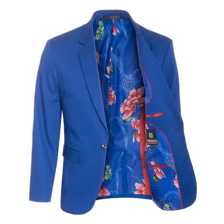Cotton Stretch Fashion Blazer // Royal (S)