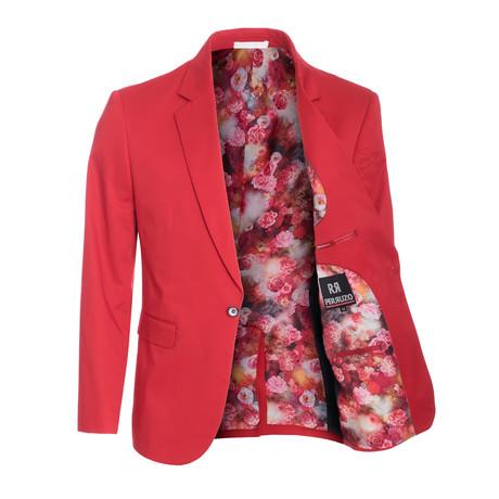Cotton Stretch Fashion Blazer // Red (S)