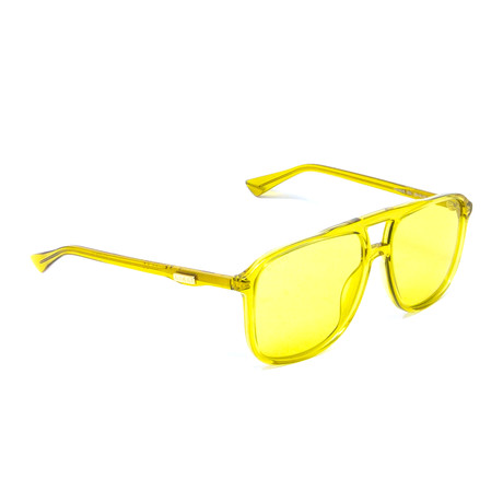 Men's Aviator Sunglasses // Yellow