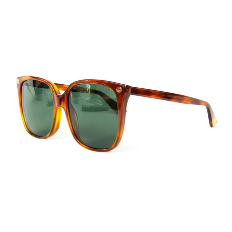 Women's Square Sunglasses // Tortoise + Green