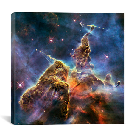 "Mystic Mountain in Carina Nebula II (Hubble Space Telescope) // NASA (26""W x 26""H x 1.5""D)"