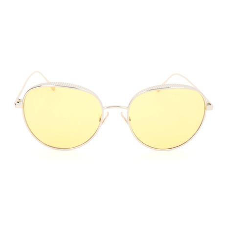 Women's Ello Sunglasses // Light Gold + Yellow