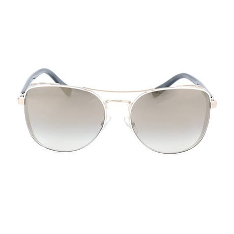 Women's Sheena Sunglasses // Silver + Gray