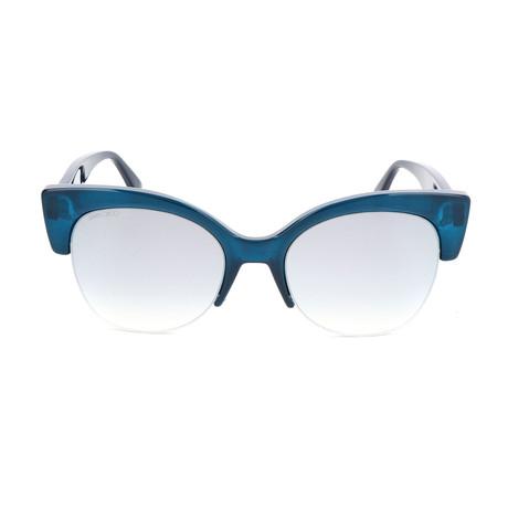 Women's Priya Sunglasses // Matte Blue + Blue Glitter