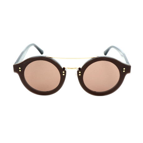 Women's Montie Sunglasses // Dark Gray + Gold Glitter