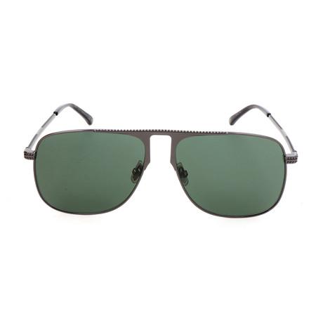 Men's Dan Sunglasses // Dark Ruthenium + Green