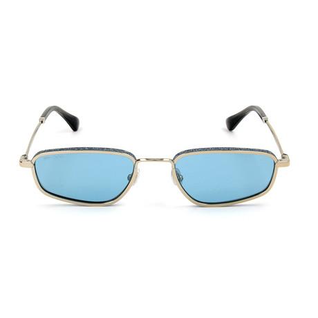 Women's Gal Sunglasses // Gold + Blue
