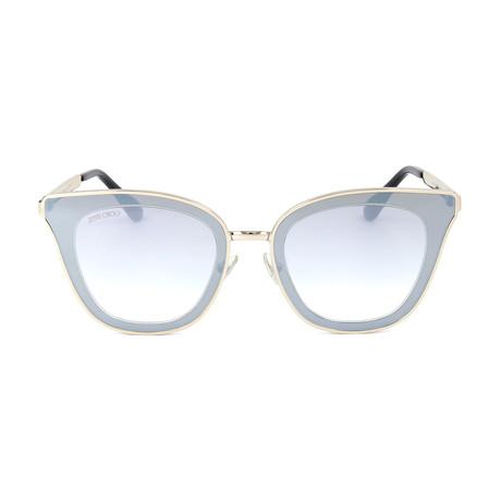 Women's Lory Sunglasses // Light Gold + Light Blue