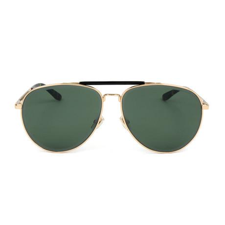 Men's Fin Sunglasses // Gold + Green
