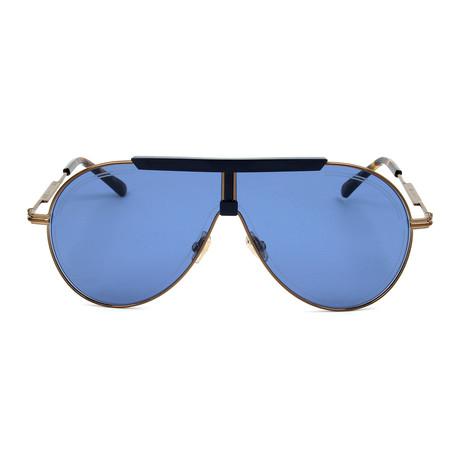 Men's Eddy Sunglasses // Gold + Blue