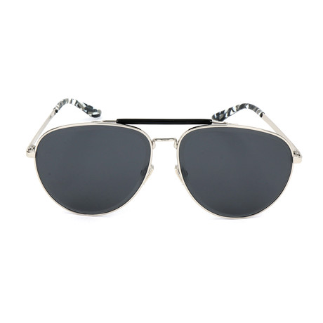 Men's Fin Sunglasses // Palladium Black + Silver