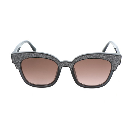 Women's Mayela Sunglasses // Dark Gray + Gray Glitter