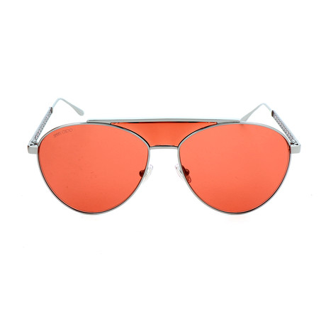 Women's Ave Sunglasses // Ruthenium + Red
