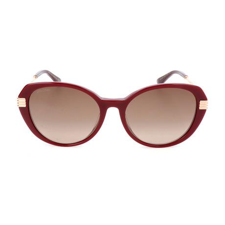 Women's Orly Sunglasses // Gold + Burgundy