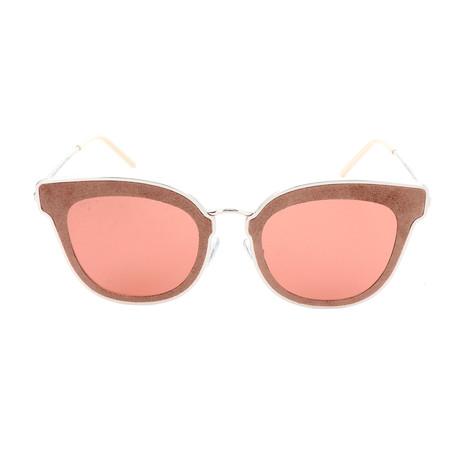 Women's Nile Sunglasses // Silver + Beige