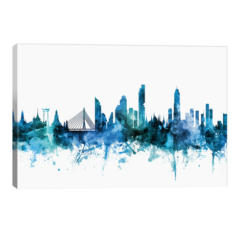 "Bangkok, Thailand Skyline // Michael Tompsett (40""W x 26""H x 1.5""D)"