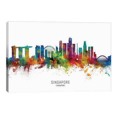 "Singapore Skyline // Michael Tompsett (40""W x 26""H x 1.5""D)"