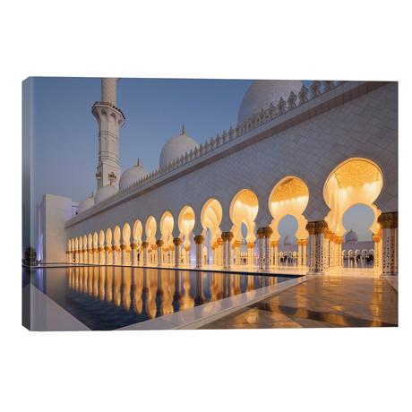 """UAE, Abu Dhabi. Sheikh Zayed bin Sultan Mosque II // Walter Bibikow (40""""W x 26""""H x 1.5""""D)"""