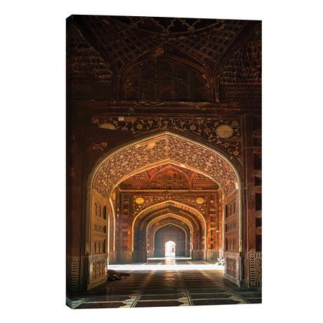 "Taj Mahal interior, Agra, Uttar Pradesh, India // Panoramic Images (26""W x 40""H x 1.5""D)"