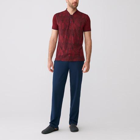 Rainier Pajamas // Set of 3 // Claret Red (S)