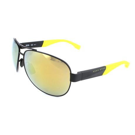 Men's 0915 Polarized Sunglasses // Matte Black + Yellow