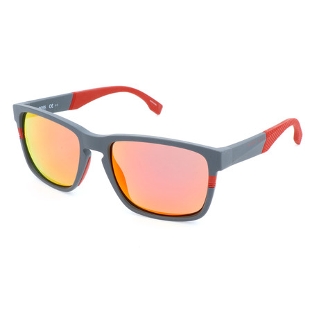 Men's 0916 Polarized Sunglasses // Matte Gray + Dark Red