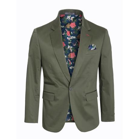 Cotton Stretch Fashion Blazer // Olive (S)