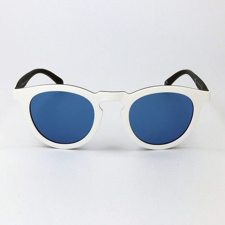 Unisex AOR017 Sunglasses // White + Black + Blue