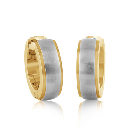 Polished Edges Huggie Earrings // Gold Plated