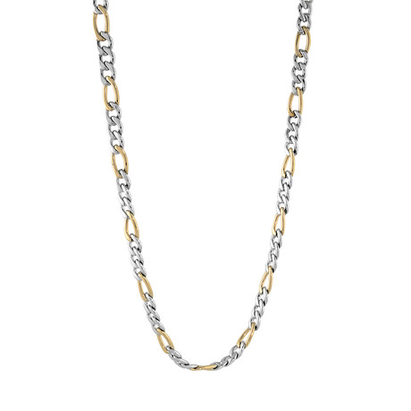 "Polished Figaro Chain // Gold Plated (20"")"