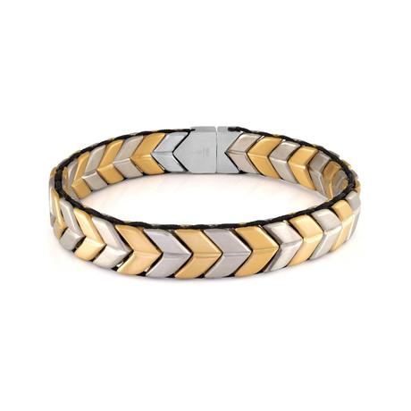 Arrow Design Bracelet // Gold Plated