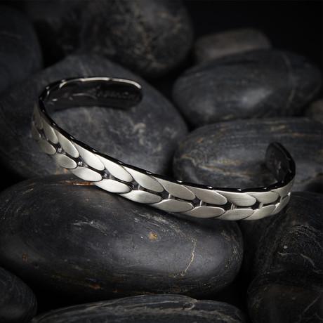 Corn Cuff Bracelet // Matte Silver (XS)