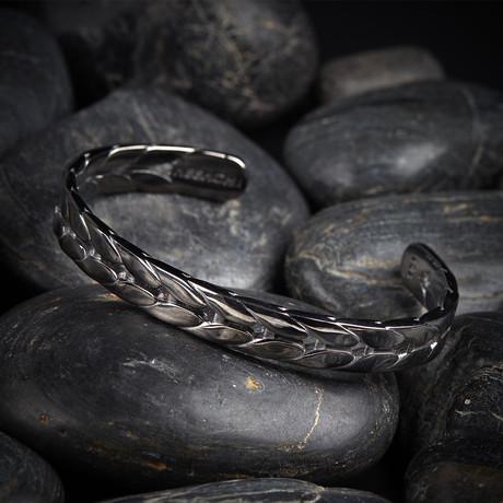Corn Cuff Bracelet // Black (XS)