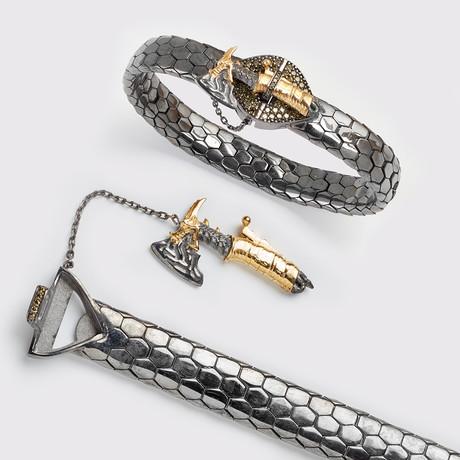 Ax Snake Bracelet // Black (XS)