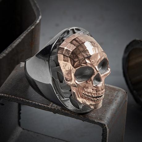 Mozaik Skull Ring // Black + Rose (10)