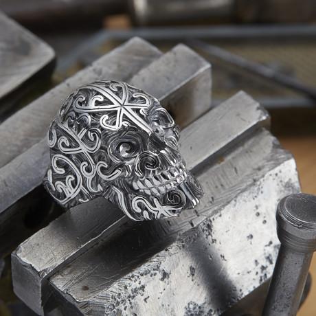 Big Skull Ring // Black + Silver (10)