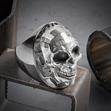 Mozaik Skull Ring // Black + Silver (10)