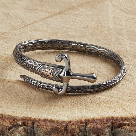 Sword Bracelet V4 // Black (XS)