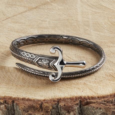 Sword Bracelet V3 // Black (XS)