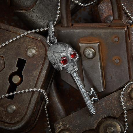 Skull Key Necklace Tip // Black (XS)