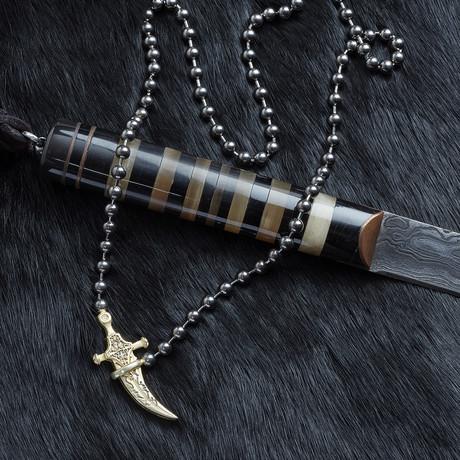 Knife Necklace // Black (XS)
