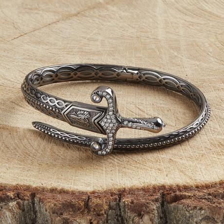 Sword Bracelet V2 // Black (XS)