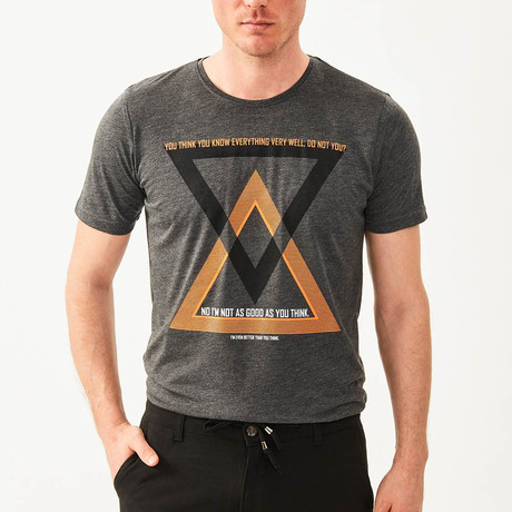 You Think You Know T-Shirt // Anthracite (S)