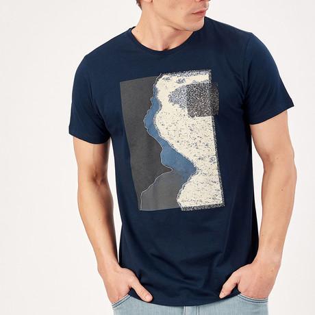 Geometric T-Shirt // Navy Blue (S)