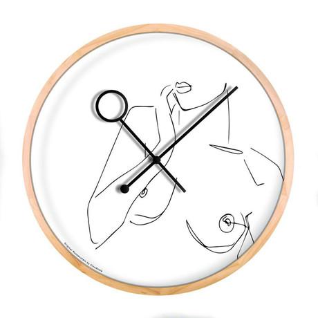 Line Art // Boobie Wall Clock