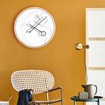 Line Art // Flirt Wall Clock